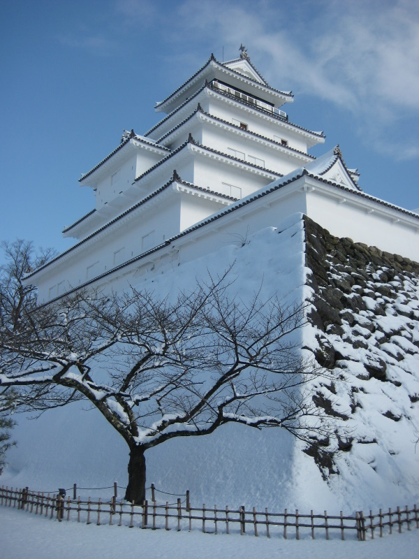 会津で正月(7)雪の鶴ヶ城 _c0013687_20425157.jpg