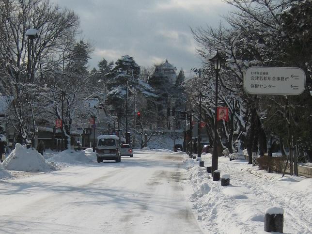 会津で正月(7)雪の鶴ヶ城 _c0013687_7161038.jpg