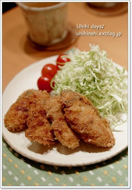 牡蠣のオイル漬けと菜の花のスパゲティ_f0179404_21281526.jpg
