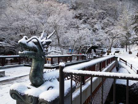 見納め?雪の龍泉洞_b0206037_9182010.jpg