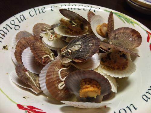 ホタテの稚貝の白ワイン蒸し_c0100865_19124943.jpg