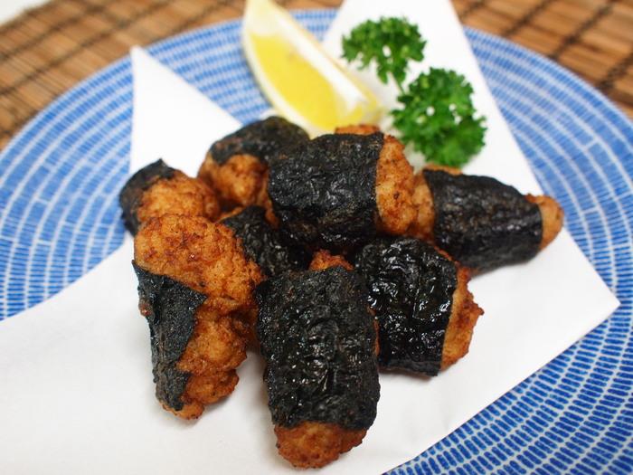 塩麹入りイカと豚肉のつみれ揚げ_a0258686_844998.jpg