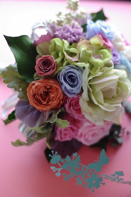 フラワーアレンジメント ONE DAY LESSON  母の日に贈るブーケ_e0190493_024516.jpg