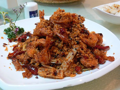中国出張2010年11月(III)-第二日目-北京の人気の辛い辛い水煮魚_c0153302_22415778.jpg