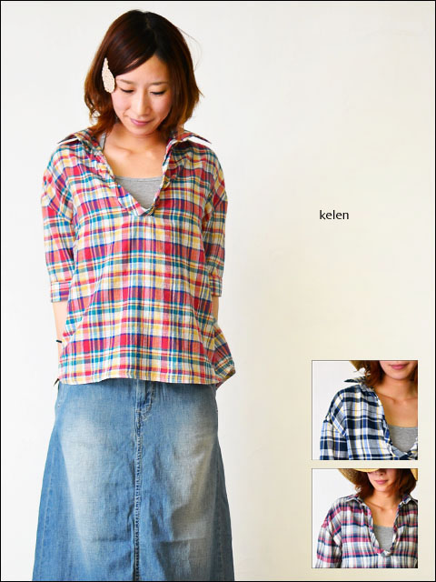 kelen [ケレン] DENIM CHECK [LKL11HBL3A] LADY\'S _f0051306_1534544.jpg