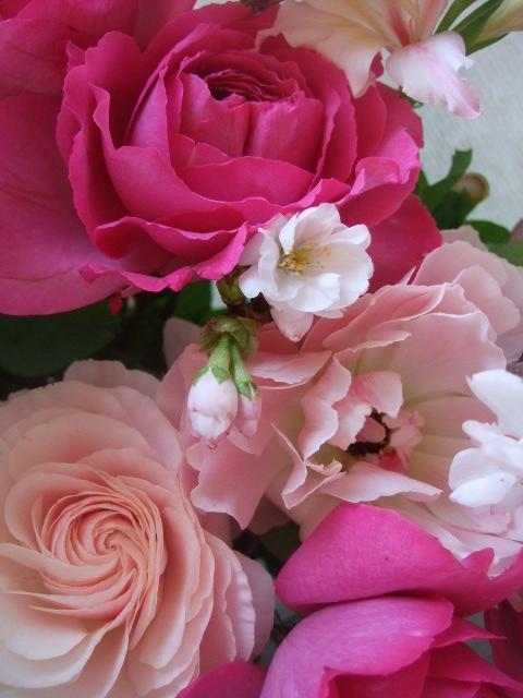 オークリーフ(バラ・イブピアッチェの花束)_f0049672_16421446.jpg