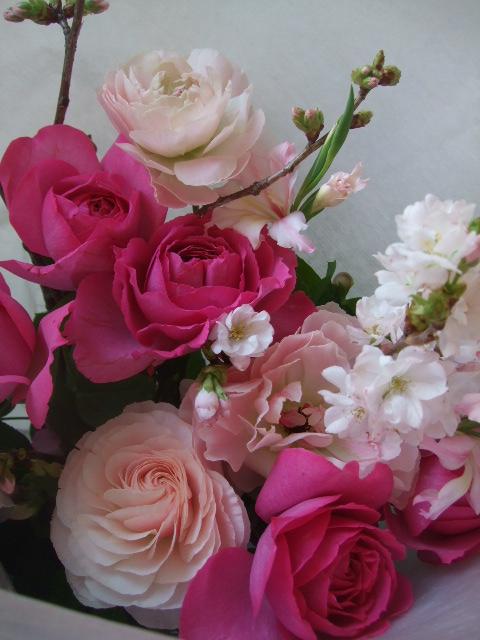 オークリーフ(バラ・イブピアッチェの花束)_f0049672_16421828.jpg