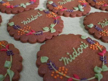 アイシングクッキー お花とグリーンのモチーフで・・・_b0080287_2313672.jpg