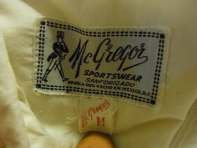 vintage guayaberaシャツ  マクレガーシャツ!_c0144020_1045127.jpg