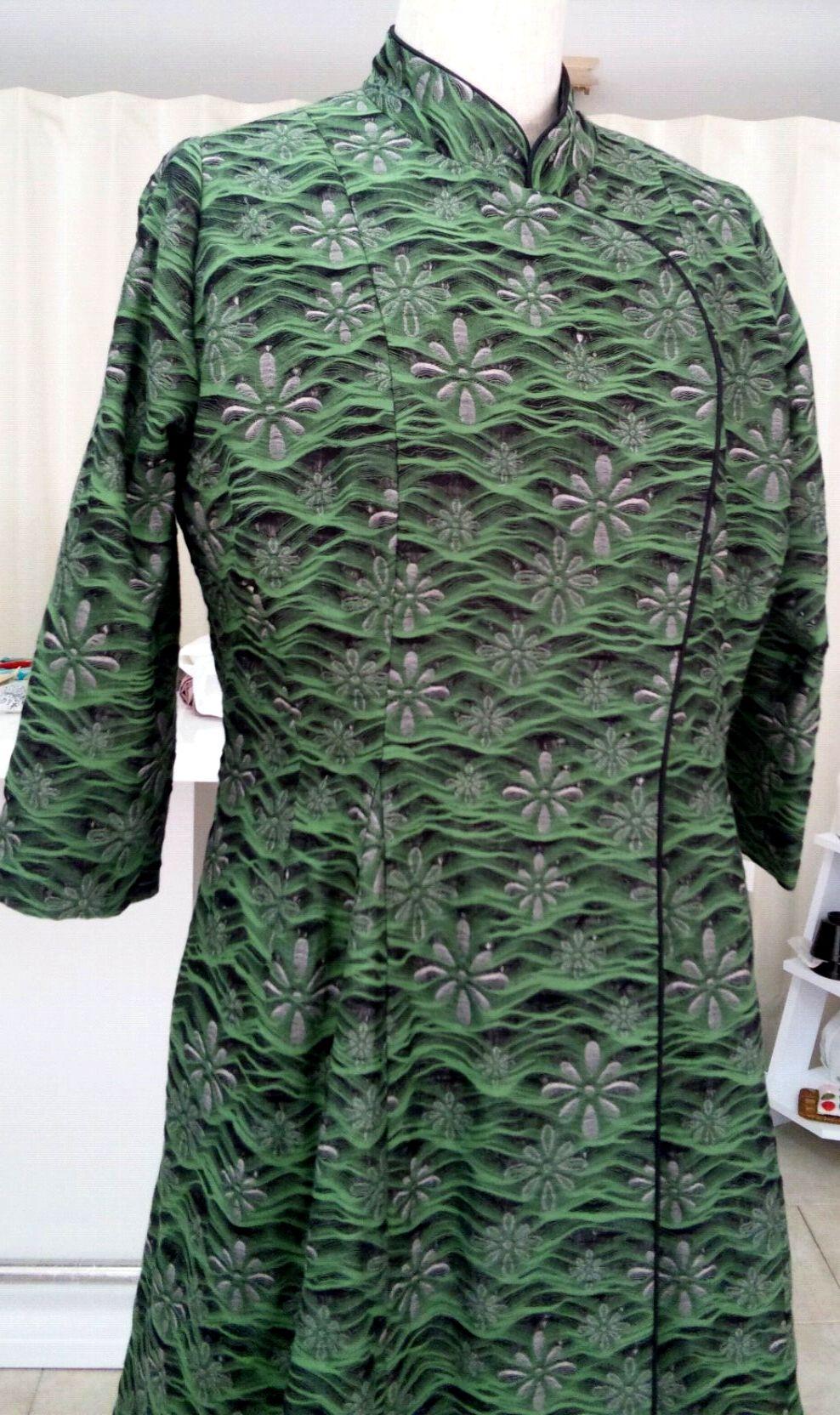 2通りの着方ができる播州織のコートドレス_c0247853_9223091.jpg