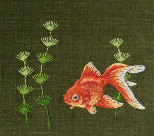 刺繍リハビリ 金魚 素赤琉金 ... : 小1 勉強 : すべての講義
