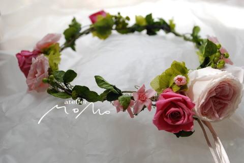 つるベースの花冠_a0136507_1959024.jpg