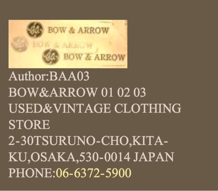 BOW & ARROW。_c0078333_1553620.jpg