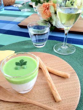 2012年4月 料理教室 新玉ねぎのブランマンジェ 翡翠ソース_e0134337_12392755.jpg