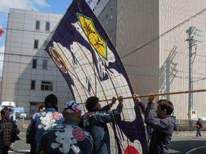 浜松まつり、初凧の糸目付け_e0030586_2244537.jpg
