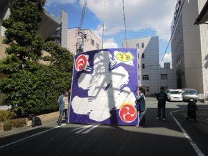 浜松まつり、初凧の糸目付け_e0030586_22445555.jpg