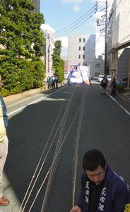 浜松まつり、初凧の糸目付け_e0030586_22445762.jpg