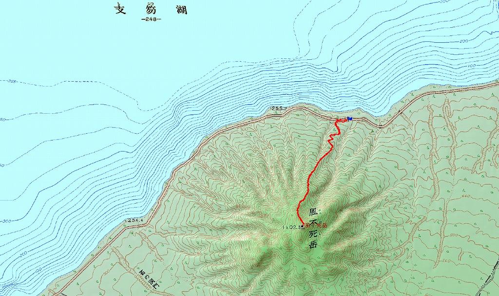 4月2日、風不死岳-北尾根-_f0138096_1404985.jpg