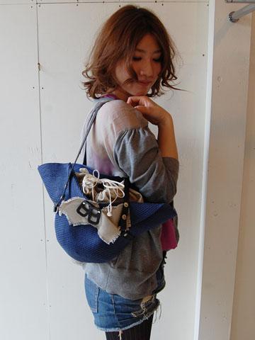 Enveloppe☆ユニークなHat 2wayバッグ  by Emina_f0053343_2225548.jpg