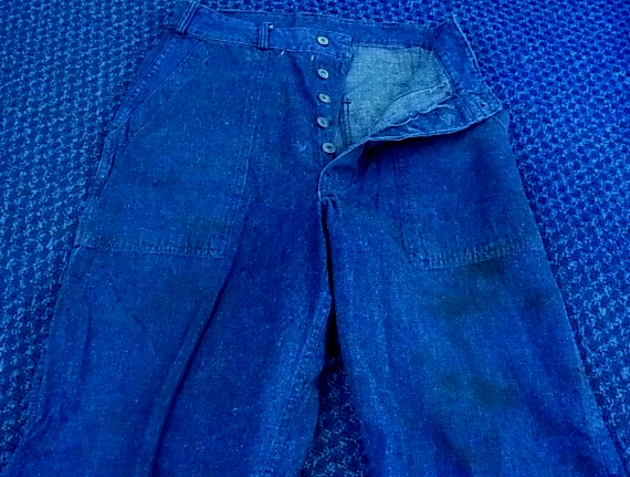 30'S~ WWⅡOR BEFORE WWⅡ DENIM ベーカーパンツ!_c0144020_13353037.jpg