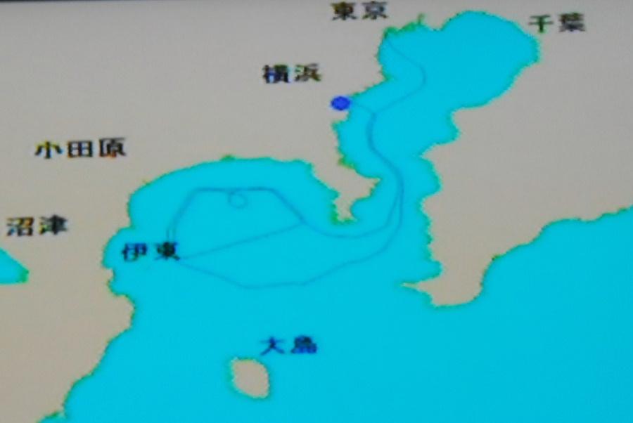 東京・横浜ワンナイトクルーズ -7:航跡・帰港_e0152866_0273038.jpg