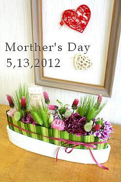 5月の1 Day Lesson 「母の日」のアレンジメント_a0085317_15284774.jpg