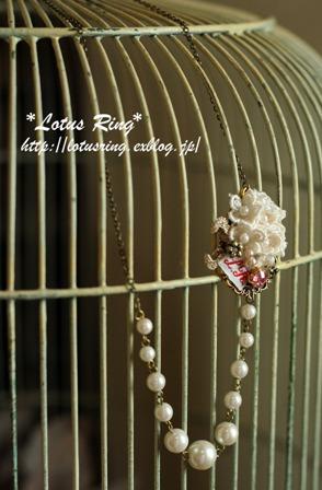 小花とネックレスとイヤリングのセット*_a0169912_17523100.jpg