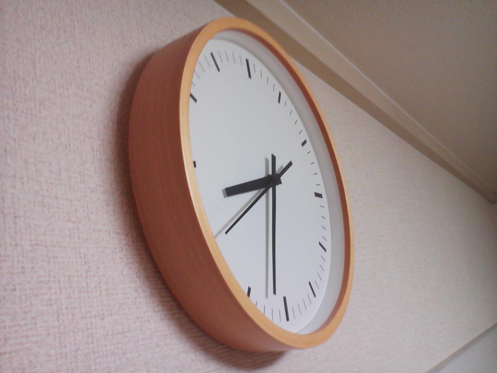 無印の掛け時計と次にねらっているもの