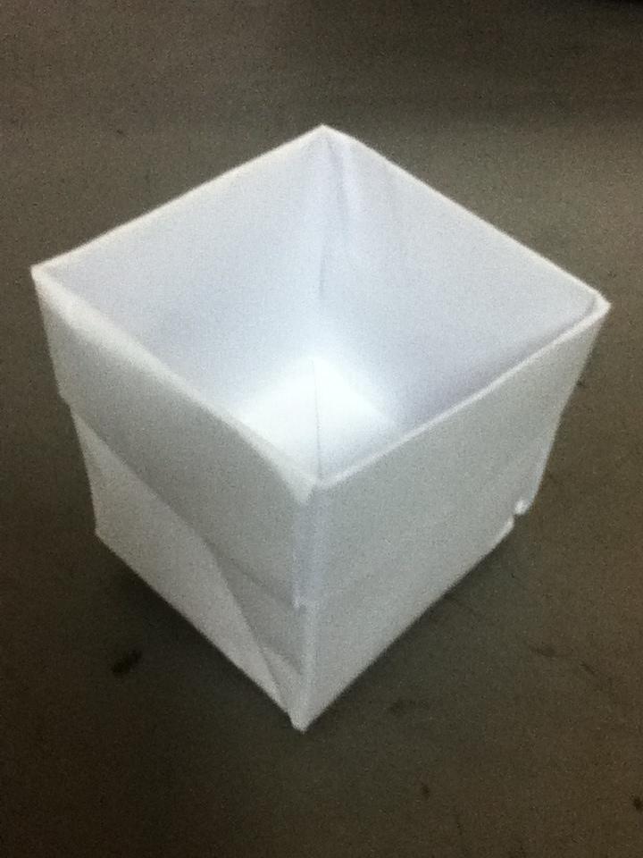 すべての折り紙 新聞紙 ゴミ箱 折り方 簡単 : 新聞紙でゴミ箱作り。家庭で ...