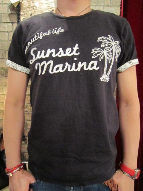 "melple""Sunset Marina刺繍ベーシックTee""入荷_f0191324_23154.jpg"