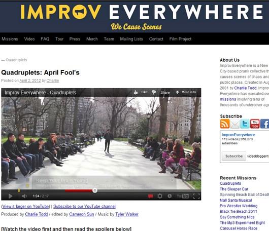 ニューヨークの街角即興集団、Improv Everywhereのエイプリル・フール_b0007805_2092013.jpg