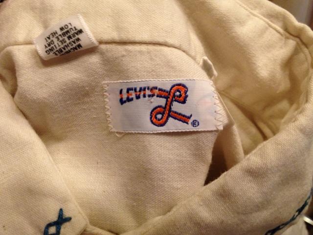 荷物が着いたので、少しだしました!70'S コットンリーバイシャツ!_c0144020_14243716.jpg