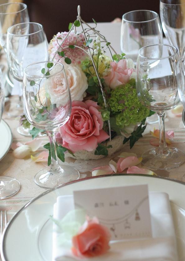 幸せってこういうこと、という花     あるホテル様のレストランウエディング_a0042928_17454520.jpg