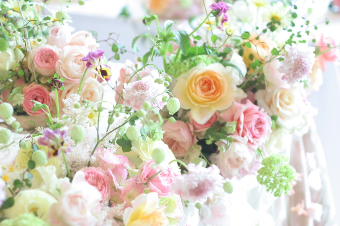 幸せってこういうこと、という花     あるホテル様のレストランウエディング_a0042928_1746429.jpg