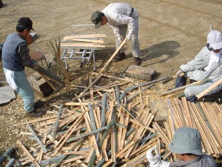 竹炭部会:竹材準備_c0108460_16161824.jpg