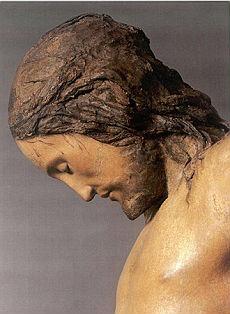 若きミケランジェロ作キリスト磔刑像~サントスピリト教会_f0106597_2434233.jpg