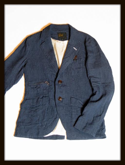 ◆Ramie Linen Rugged Jacket_e0142928_12444534.jpg