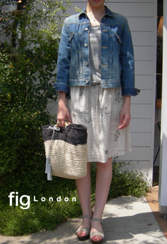 fig London  パンプリントギャザーロングスカート_a0130646_16292449.jpg