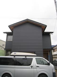 「清須の家」外部足場解体_b0179213_18212840.jpg