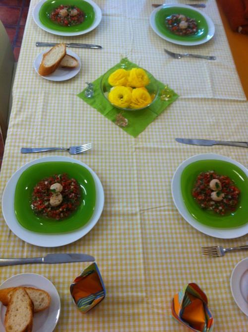 料理教室・・・小玉ねぎのキッシュなど。_f0141419_550232.jpg