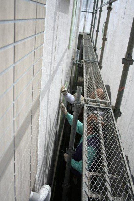 塗装工事が順調に進捗しています(神奈川県川崎市)_e0207151_20103914.jpg