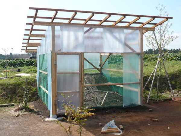 ついにフクロウの小屋完成_d0167210_10303914.jpg