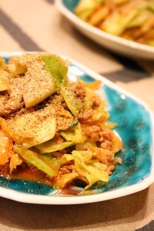 キャベツとひき肉のキムチ炒め  by いっちゃん☆_f0141419_654275.jpg