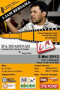 インドネシアの映画監督・IFA ISFANSYAH さんと3時間_a0054926_23122545.jpg