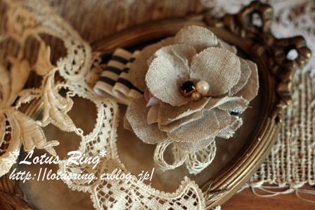 リネンのお花のヘアアクセ~*_a0169912_2214270.jpg