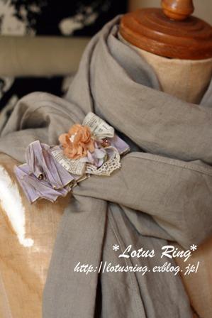 フランスリボンと布花のヘアアクセサリー*_a0169912_218135.jpg