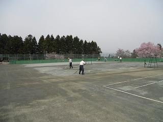 ◎テニスコート整備◎_d0027501_19382472.jpg