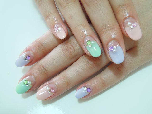 Pastel Color Nail_a0239065_1203329.jpg