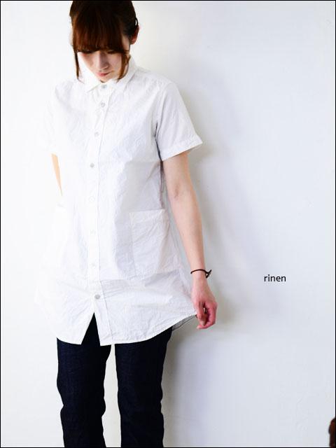 RINEN [リネン] 80/2 ダウンプルーフ 半袖レギュラーカラーロングシャツ [34207] LADY\'S_f0051306_14255943.jpg