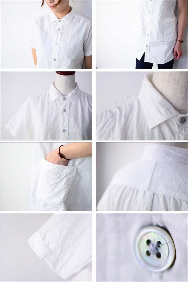 RINEN [リネン] 80/2 ダウンプルーフ 半袖レギュラーカラーロングシャツ [34207] LADY\'S_f0051306_1426229.jpg